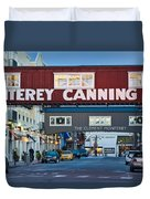 Cannery Row Area At Dawn, Monterey Duvet Cover