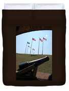 Cannon At Fort Sumter Duvet Cover