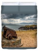 Cannon At Llanddwyn  Duvet Cover by Adrian Evans