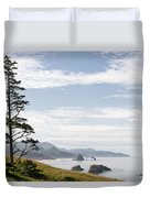 Cannon Beach At Ecola State Park Duvet Cover