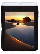 Cannon Beach Sunset Vertical Duvet Cover