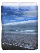 Cannon Beach Surf And Storm Duvet Cover