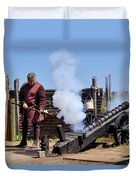 Cannon Firing At Fountain Of Youth Fl Duvet Cover