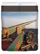Cannon In Fortress Duvet Cover