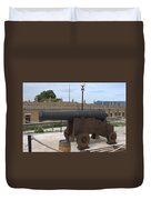 cannon of the old fort Corfu Duvet Cover