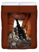 Cannon On Sailship Duvet Cover