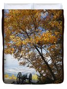 Cannon On Top Of Lookout Mountain Duvet Cover by Bruce Roberts