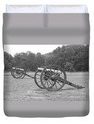 Cannons On Manassas Battlefield Duvet Cover