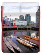Canoe Club And Telus World Of Science In Vancouver Duvet Cover