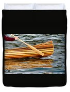 Canoe Lines And Reflections Duvet Cover