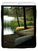 Canoe Trio Duvet Cover