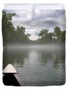 Canoeing The Ozarks Duvet Cover