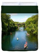 Canoeing The Springs Duvet Cover