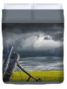 Canola Field In Southern Alberta Duvet Cover