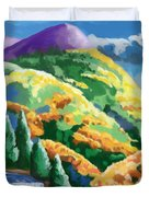 Can't- See The Forest Thur The Woman Duvet Cover