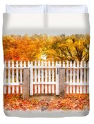 Canterbury Shaker Village Picket Fence  Duvet Cover