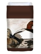Canvasback Couple Duvet Cover
