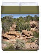 Canyon De Chelly - A Blend Of Cultures Duvet Cover by Christine Till
