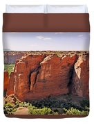 Canyon De Chelly - View From Sliding House Overlook Duvet Cover by Christine Till