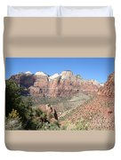 Canyon Overview Zion Park Duvet Cover