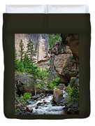 Canyon Serenity - Crazy Woman Creek - Crazy Woman Canyon - Johnson County - Wyoming Duvet Cover