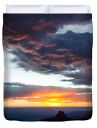 Canyon Sunset Duvet Cover by Dave Bowman