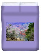 Canyon View From Walhalla Overlook On North Rim Of Grand Canyon-arizona  Duvet Cover