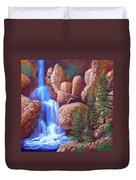 Canyon Waterfall Duvet Cover