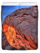 Canyonlands Orange Band Duvet Cover