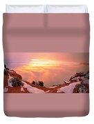 Canyonlands Winter Duvet Cover