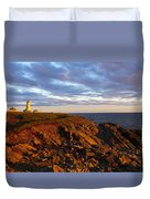 Cape Anguille Lighthouse Duvet Cover
