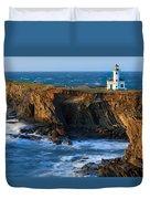 Cape Arago Lighthouse Duvet Cover
