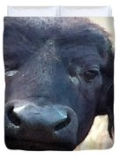 Cape Buffalo Up Close And Personal Duvet Cover