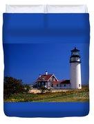 Cape Cod Or Highland Lighthouse Duvet Cover