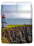 Cape D'or Lighthouse-ns Duvet Cover
