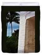 cape Florida light door Duvet Cover