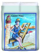 Cape May Illustration Poster Duvet Cover