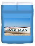 Cape May New Jersey Duvet Cover