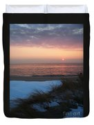 Cape May Twilight In February Duvet Cover