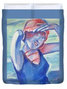 Cape May1920s Bathing Beauty Duvet Cover