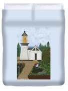 Cape Meares Lighthouse April 2013 Duvet Cover by Anne Norskog