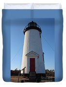 Cape Poge Lighthouse Duvet Cover