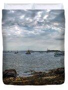 Cape Porpoise Maine - In The Evening Duvet Cover