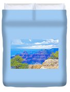 Cape Royal Blue On North Rim Of Grand Canyon-arizona Duvet Cover