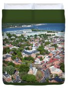 Capital City Of Maryland Duvet Cover