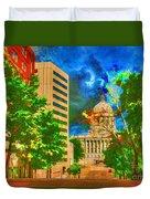 Capital - Jefferson City Missouri - Painting Duvet Cover