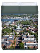 Capital Of Maryland In Annapolis Duvet Cover