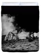 Capital Reef National Park In Black And White  Duvet Cover