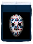 Capitals Goalie Mask Duvet Cover