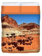 Capitol Reef Twin Towers Duvet Cover